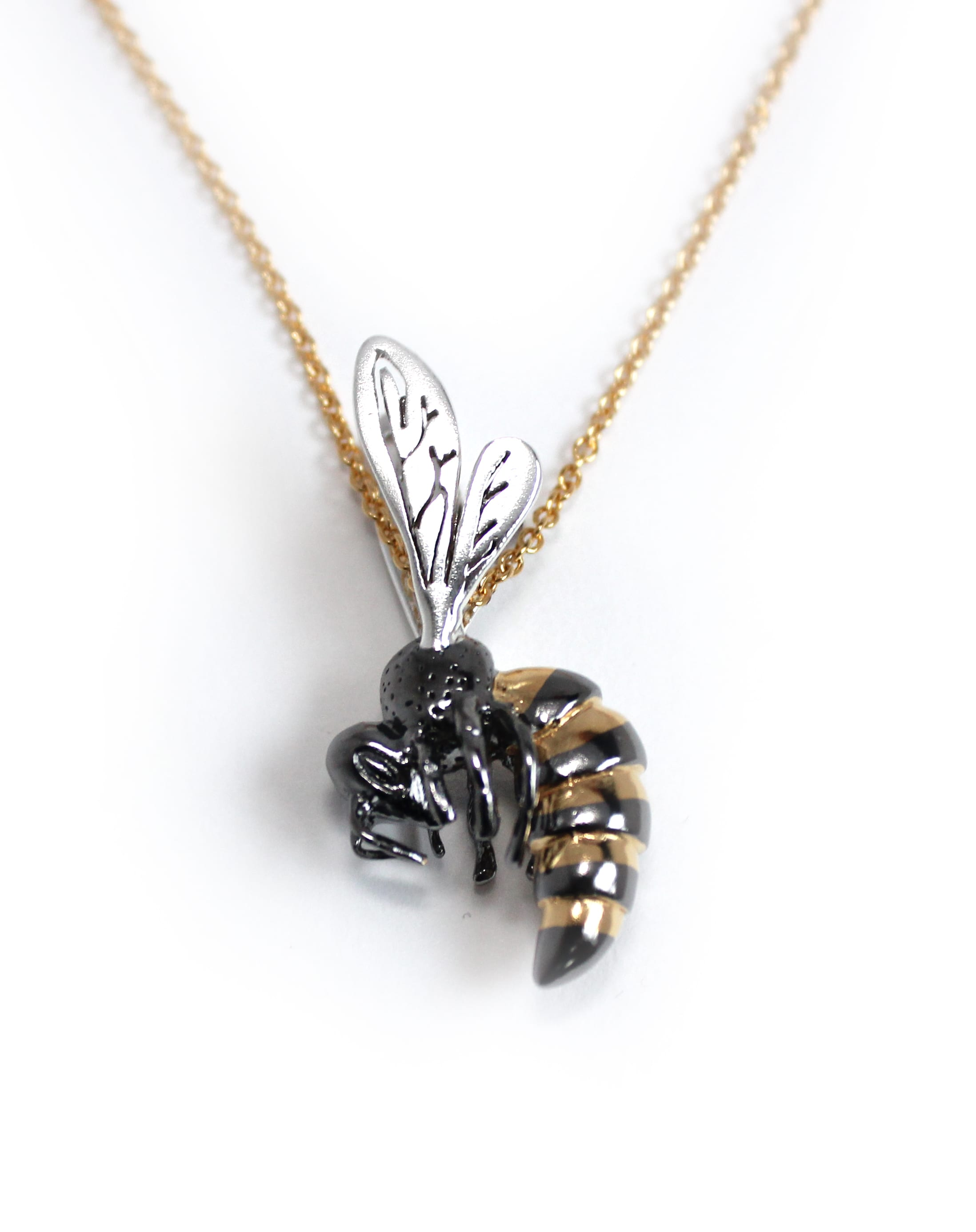 d page suspended and in necklace glass drop bumble the brass rhinestone this bee it mysite chain along s is a golden product pendant made with lovely honey bronze